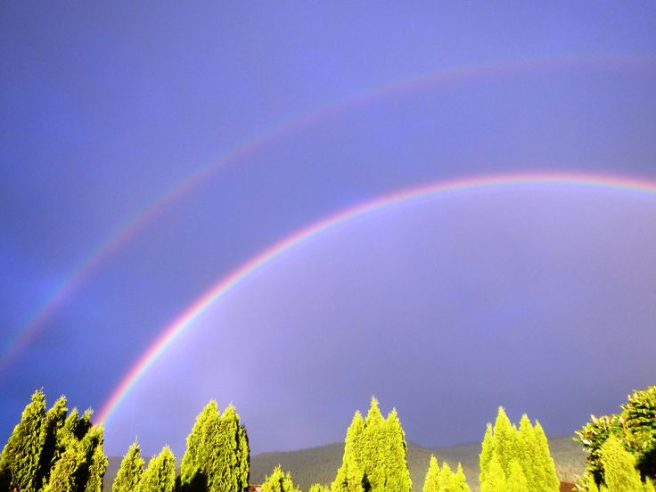 Double Rainbows in Armstrong, BC