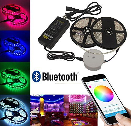 Bluetooth Smartphone App Controlled 10M 600leds Multi Color RGB Strip Light Kit,Works with IOS, Android, Windows and Amazon Fire Phone & Tablet Accent Lighting System Kit (10M) -  http://www.wahmmo.com/bluetooth-smartphone-app-controlled-10m-600leds-multi-color-rgb-strip-light-kitworks-with-ios-android-windows-and-amazon-fire-phone-tablet-accent-lighting-system-kit-10m/ -  - WAHMMO