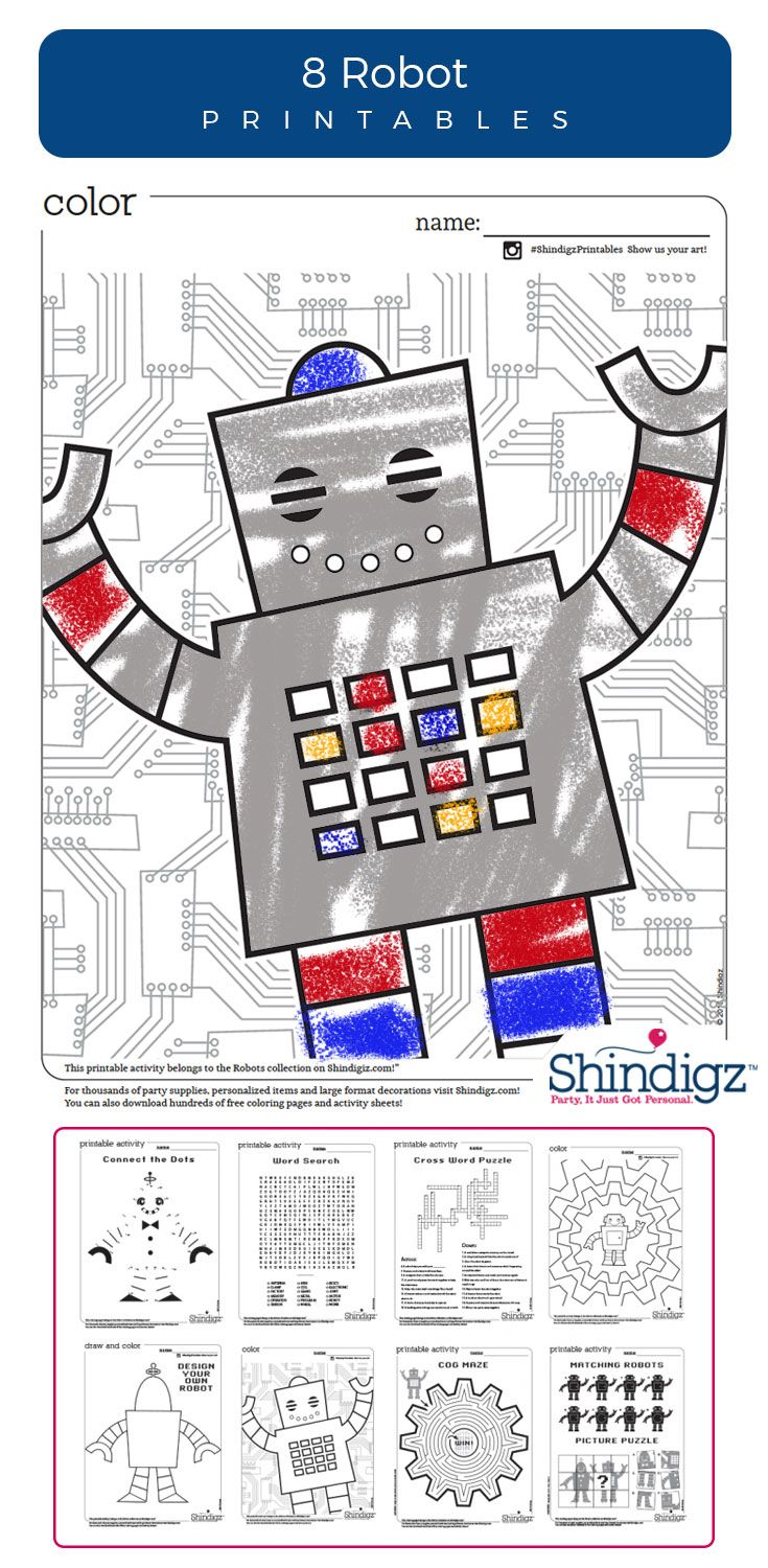 Free coloring pages camping theme - Free Robot Printables Coloring Pages Shindigz