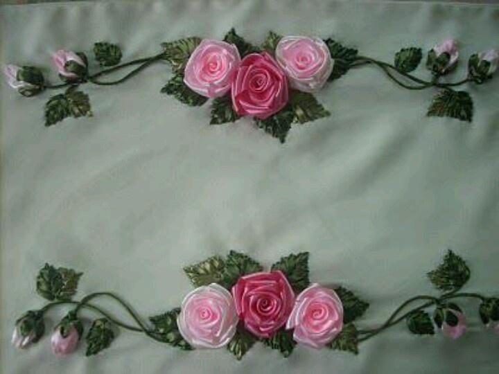 el emegi goznuru: Ideas For, Подборка Из, Emegi Goznuru, Embroidery, From The Internet, Ribbon Embroidery
