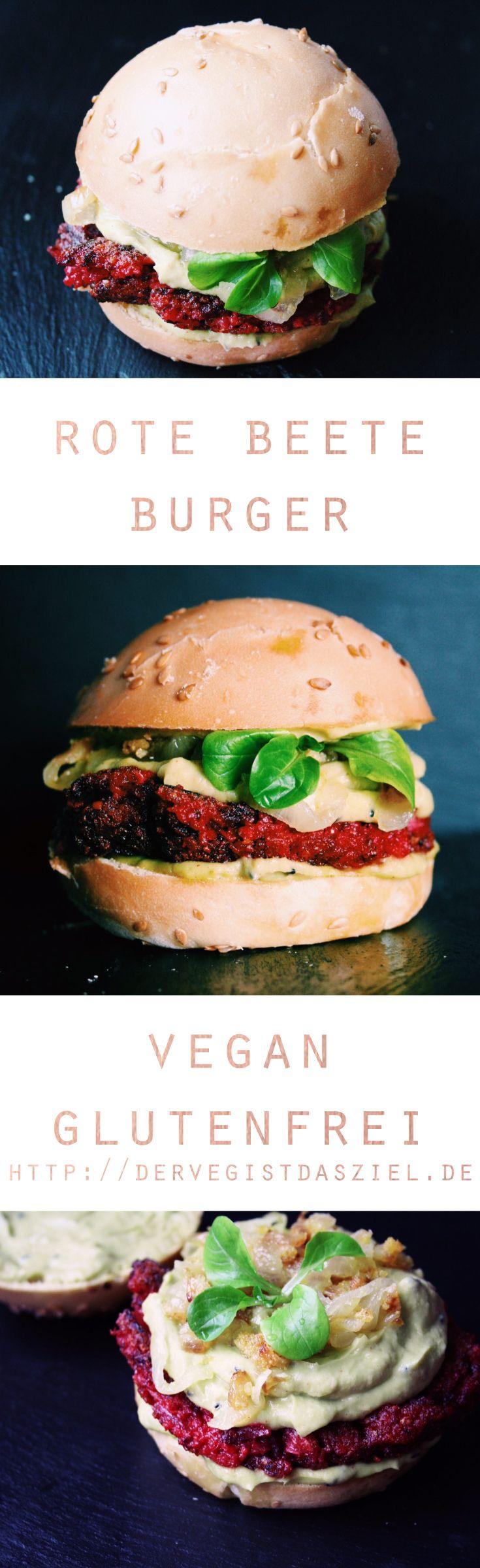 Rote Beete Burger, vegan. glutenfrei