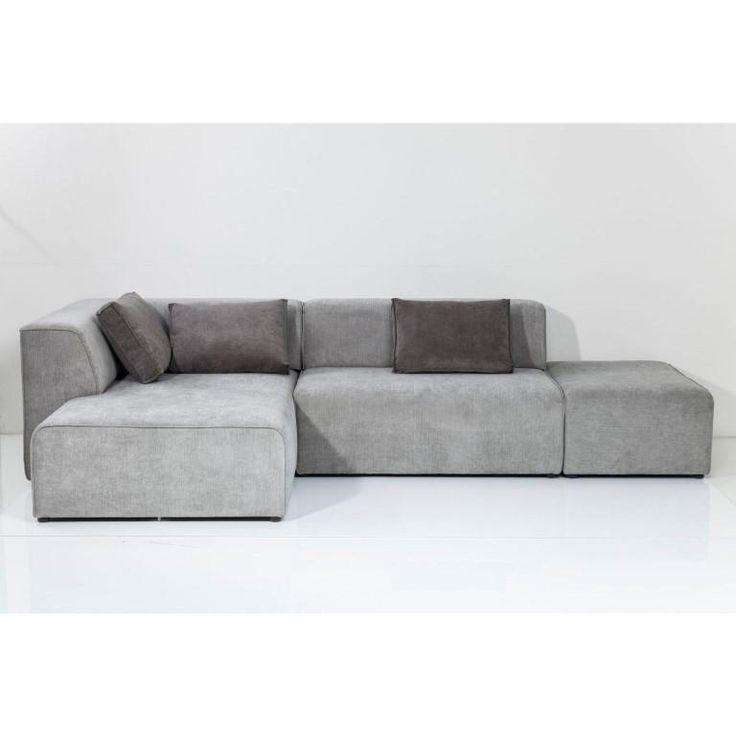 Ecksofa Infinity Chenille in Grau.  Wunderschönes Ecksofa, das in jedes Wohnzimmer passt - loungig und einladend!  #kare #sofa #Wohnlandschaft #Echsofa #Grau #stilvollwohnen #moebel #möbel #moebelpower #moebeltraeume
