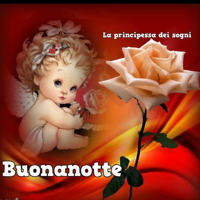 Little angel saying good night in Italian <3