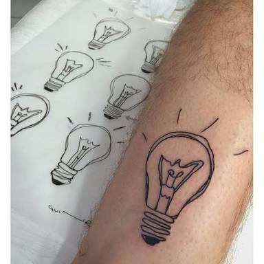 Resultado de imagem para lampada tatuagem