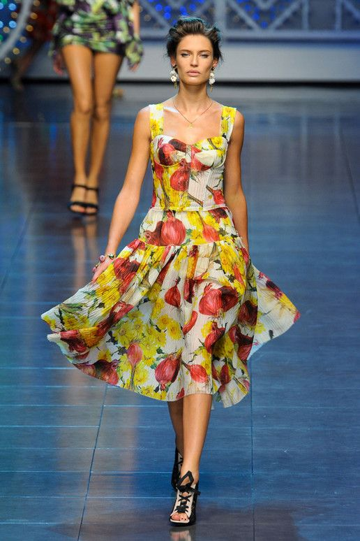 Dolce & Gabbana Spring: Summer Fashion, Fashion Weeks, Birthday Dresses, Floors Length Dresses, Spring Collection, Gabbana Spring, Spring 2012, Bianca Balti, Beautiful Summer Dresses