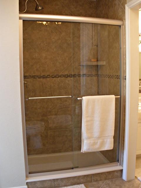 Replace Fiberglass Shower With Tiled Shower Glass Door