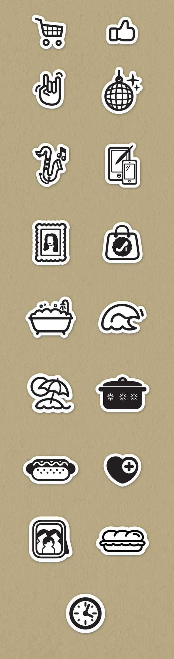 Social Icons by Jorge Dias, via Behance
