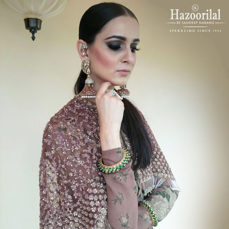 Bangles & bling ! Gorgeous @nitya_bbirla in breathtaking jewellery by the house of Hazoorilal by Sandeep Narang! #hazoorilalbysandeepnarang #hazoorilaljewellersgk #clientdiaries #bridallooksinspiration #earrings #jewellery#polki #ring
