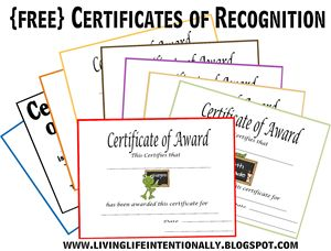 {free} Certificates of Recognition - customizable!  Coordinate with {free} School Memories Pack