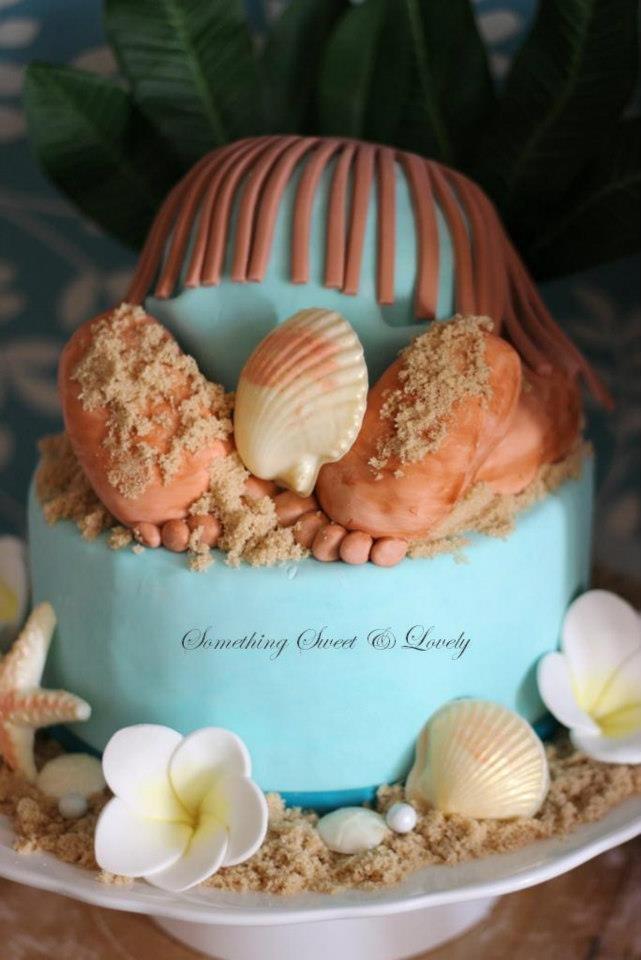 Luau Baby Shower and Baby Rump Cake  Cake Designer: Roxy Davis  Something Sweet & Lovely