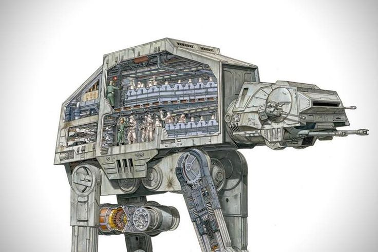 Star Wars The beautiful cross sections of Ships and Vehicles
