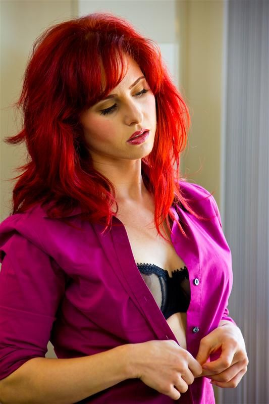 Andrea Rosu | Redheads: Model Mayhem | Leather Jacket ...