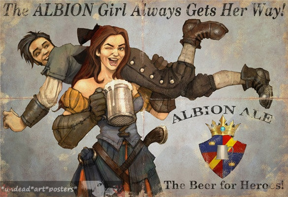 Fable 3 Print Fable Poster The Albion Girls Always Gets her way Inspired Fable Print.