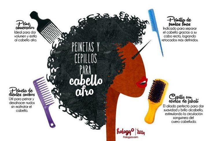 Afrobelleza: Peinetas y cepillos para cabello afro - frologyco.com #Infografía #Afroblog #afrolatina #cabelloafro