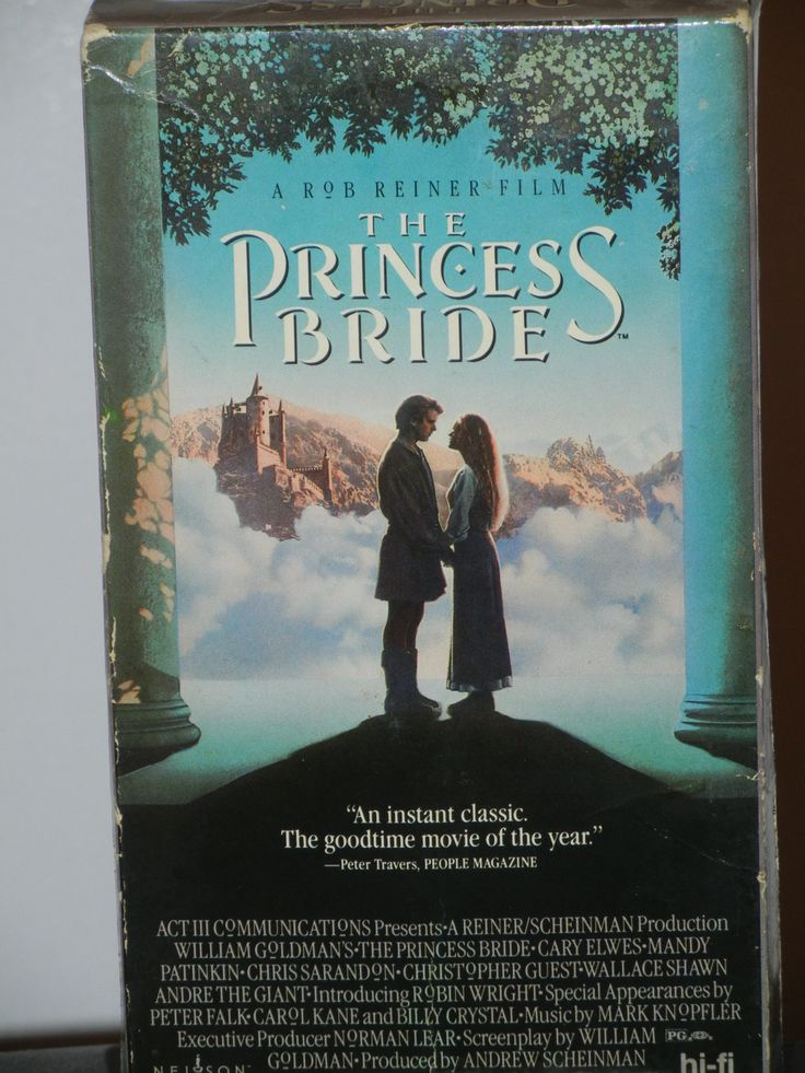 The Princess Bride VHS Movie from 1987 Christopher Guest Wallace Shawn André the Giant Robin Wright Peter Falk Billy Crystal Cary Elwes by GailsPopCycle on Etsy