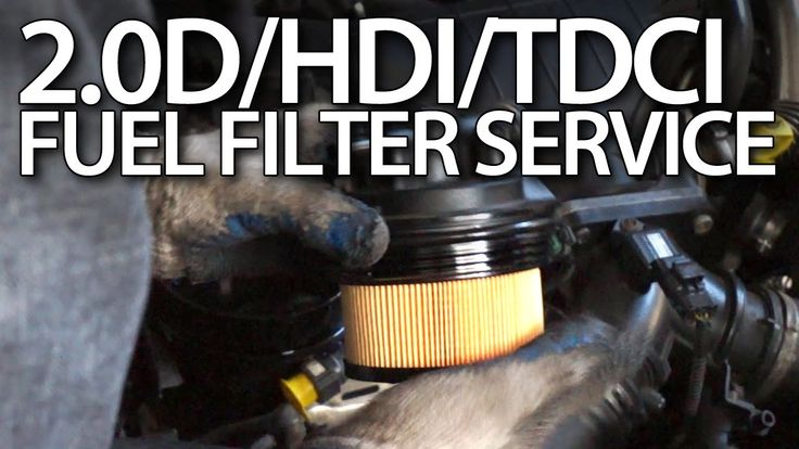 How to change #fuel #filter in #Volvo 2.0D #Ford 2.0TDCi #Peugeot 2.0HDi #Citroen #cars #service #maintenance