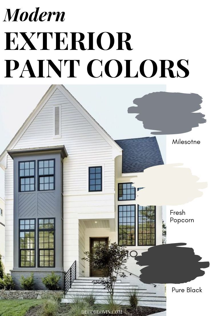 Modern Exterior Paint Colors With Images Exterior House Paint