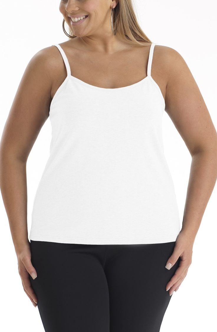 Seamless cami | white Style No: T1224 Another perfect layering top...made in nylon elastane. it feels wonderful and oh so comfortable.  #dreamdiva #dreamdivafiles #fashion #plussize