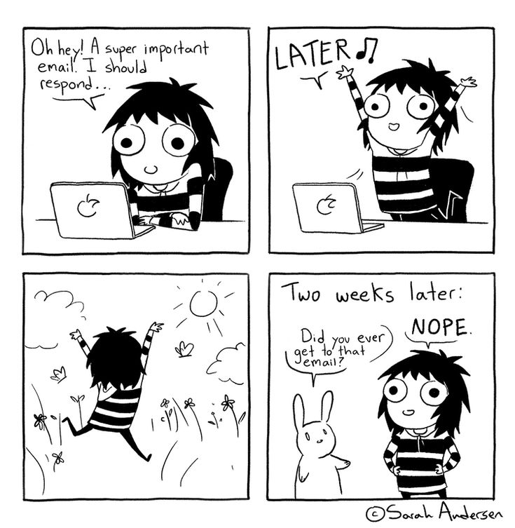 A Super Important Email, a Sarah's Scribbles comic by Sarah Andersen
