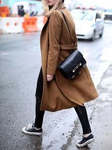 Description Cuff(cm) :XS:25cm,S:26cm,M:27cm,L:28cm Fabric :Fabric has no stretch Pattern Type :Plain Type :Coats Color :Camel Material :Polyester Collar :Collar Length(cm) :XS:106cm,S:107cm,M:108cm,L: