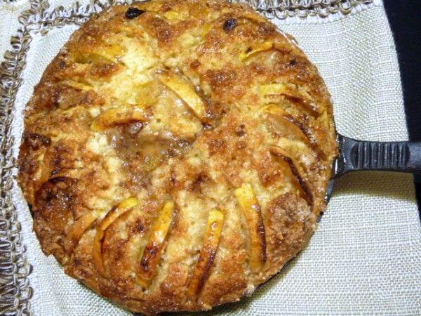 Яблочный кекс со сливочным сыром