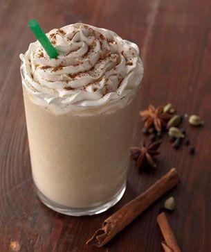homemade chai frappuccino