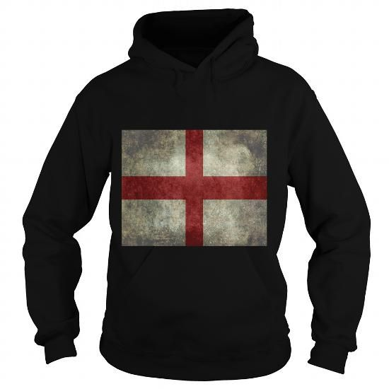 Awesome Tee Flag of England St Georges Cross Vintage retro style 2016 148 T shirts
