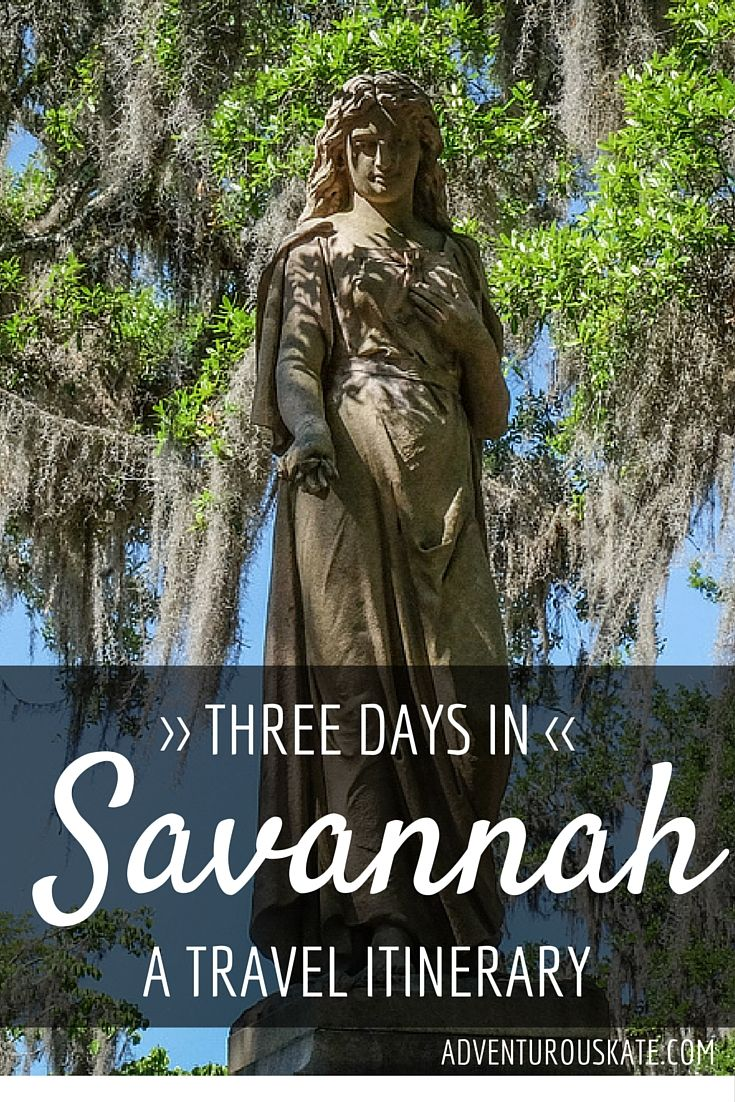 Savannah is the perfect destination to explore over a weekend. It's a small city, you can see most of it on foot, and just walking from place to place is j