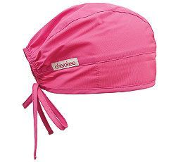 Cherokee Solid Scrub Cap. This is an adjustable, tie-back scrub hat featuring a terry cloth sweatband and contoured seaming with back elastic for better fit. Embroidery is typically placed on the left or right side. If you would like embroidery placed in the center of the cap, please call customer service 1-800-453-3944 Monday-Friday from 8-5 central time to place your order.