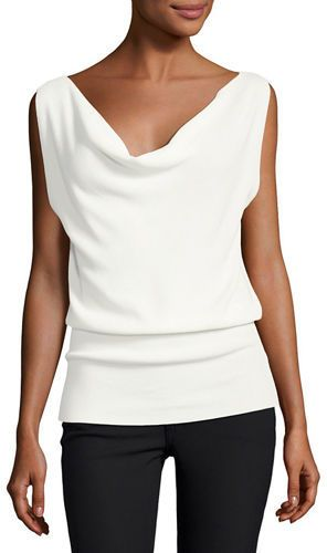 Theory Prosecco Cowl-Neck Sleeveless Sweater