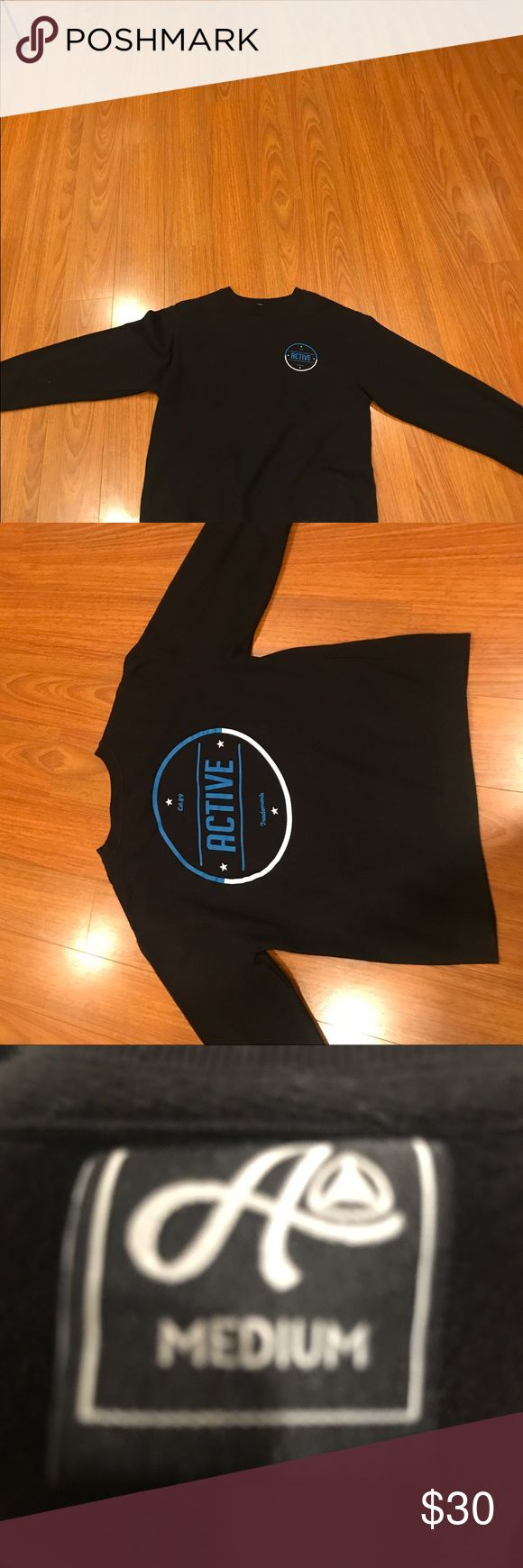 Active crewneck Black with print Active Ride Shop Other