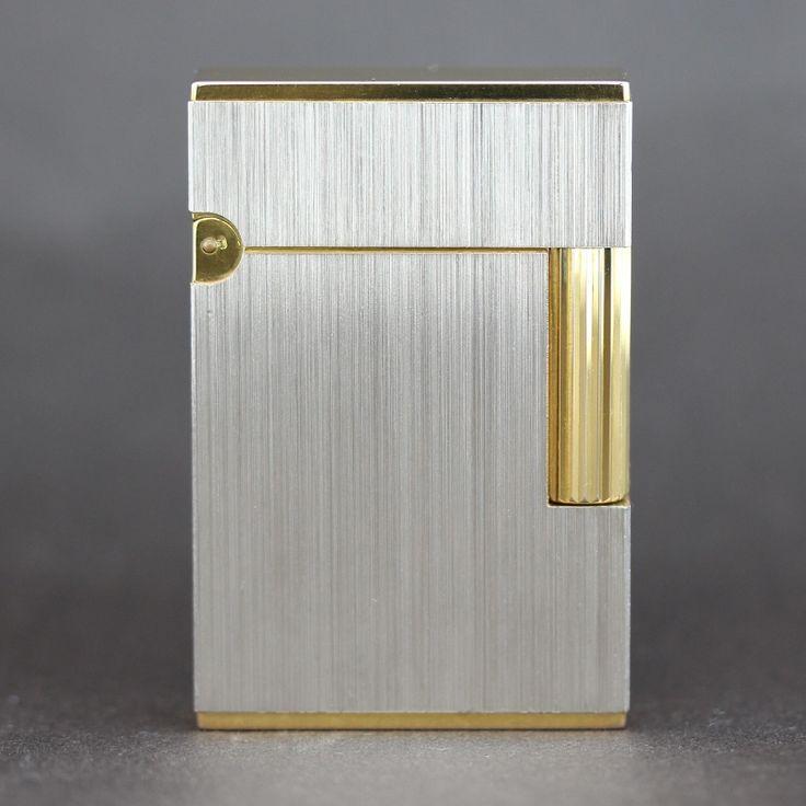 【中古】S.T.DuPont(デュポン) ギャツビー ヘアライン コンビ ライター/高級感のある輝きを放つパラディウム装飾。ヘアライン加工を施した定番モデル。/新品同様・極美品・美品の中古ブランドライターを格安で提供いたします。
