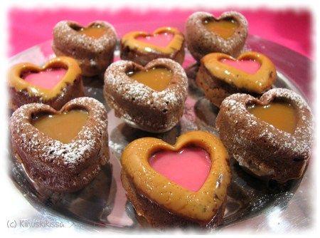 Sydänmuffinssit   Kinuskikissa