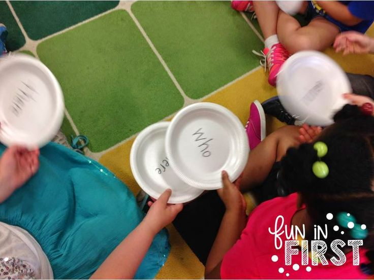This pass the plate 'sight word game' is so easy - you could literally do it with any objects with sight words written on them!