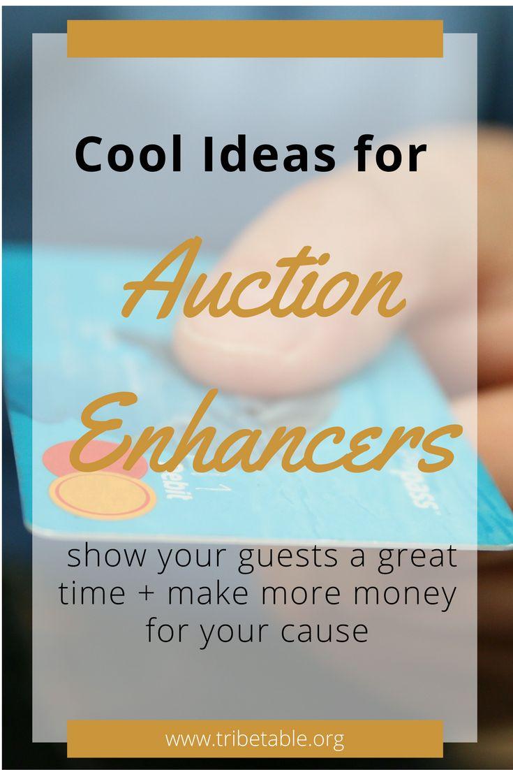 auction enhancers, silent auction, live auction, fundraiser, charity event