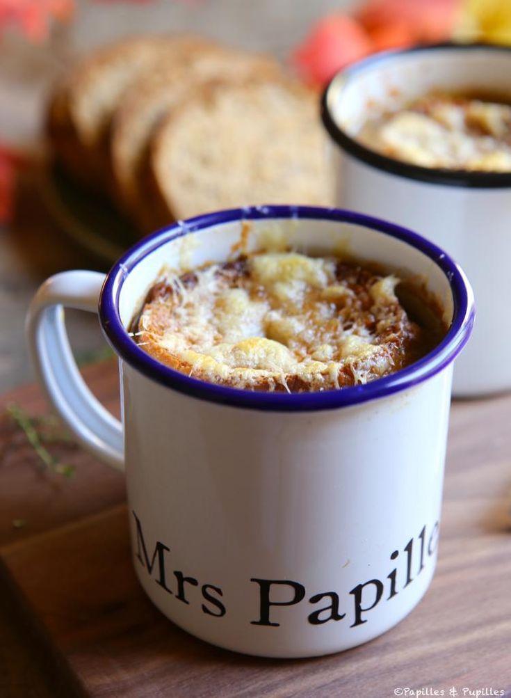 Soupe l oignon et tartines gratin es l appenzeller recette cuisine soupe oignon - Soupe a oignon maison ...