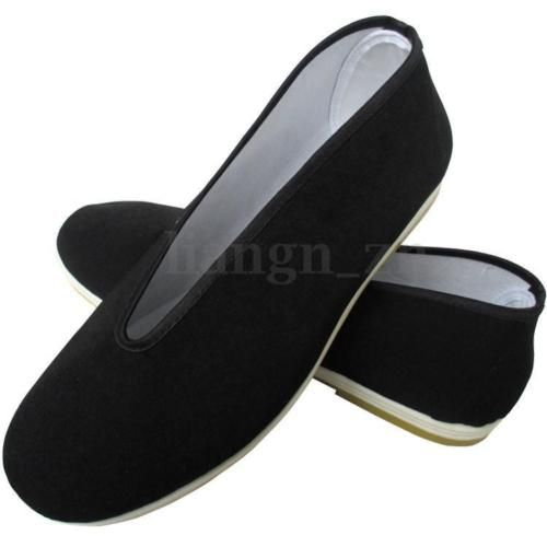 TRADITIONAL COTTON SOLE TAI-CHI / KUNG FU SHOES MEN BLACK SNEAKERS SLIPPERS | Footwear & Shoes | Clothing & Footwear - Zeppy.io