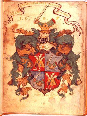 """""""Az én címerem az én Christusom, 1605"""" Wathay címere jellegzetesen katonacímer"""