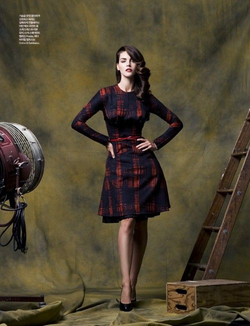 Hilary Rhoda by Ryan Yoon for Elle Korea October 2010