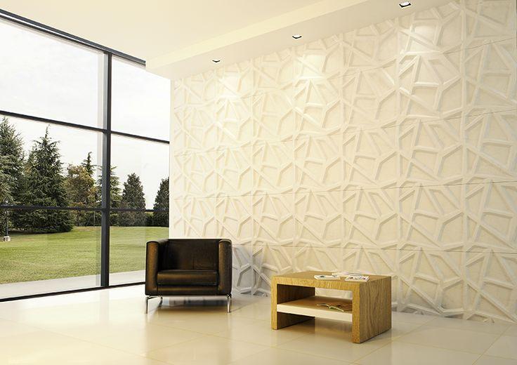 Trama_Rivestimento parete_Bianco di Carrara_Erika Masi