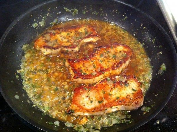 Honey Dijon Pork Chops - It's what's for dinner tonight!! 4 weight watcher points(old) for one chop. Super yummy and the chops are soooo moist. Enjoy.