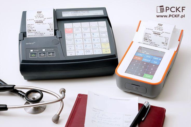 Na jednej i drugiej można zaprogramować szybką obsługę klie... pacjentów. Kasy fiskalne Elzab: Mini E i K10.