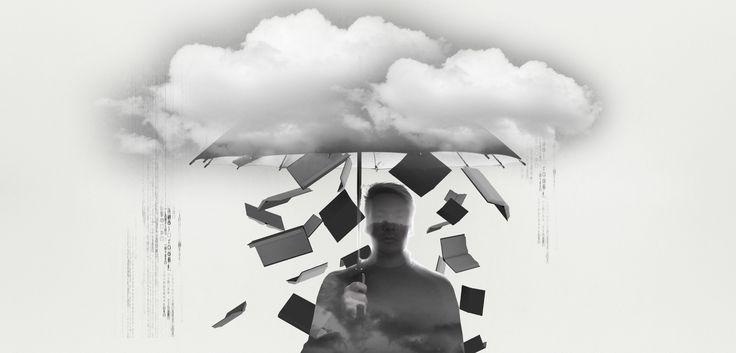 "Photoshoot of a new publisher on the market ""Forlaget Paraplyen"" Manipulated in Photoshop afterwards with Double Exposure and chosen graphic overlays, like clouds and books"