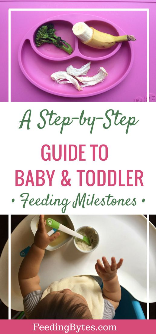 A complete guide to baby and toddler feeding milestones from
