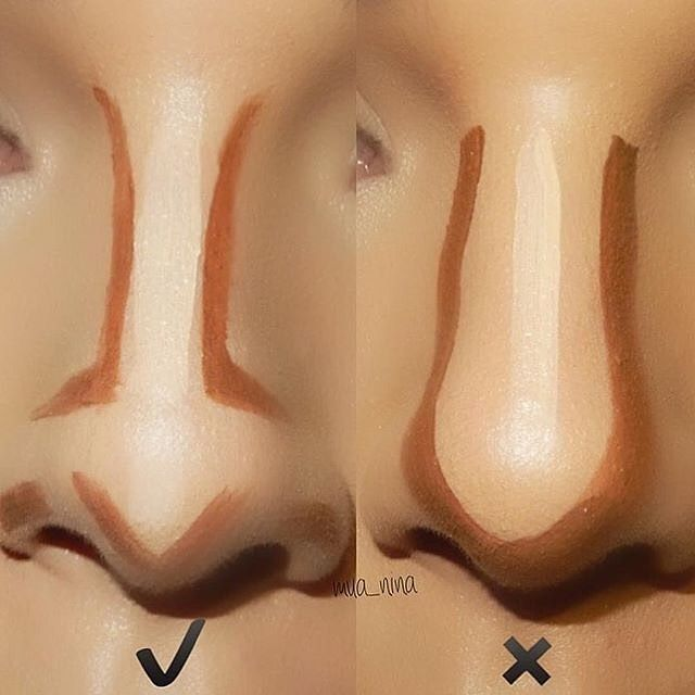 Great nose contour guide @mua_nina  I want to share more contouring for various nose shapes tag me on your nose contour style  #anastasiabeverlyhills