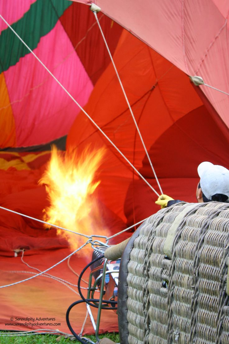 Inflating the hot air balloon is a fun and interesting