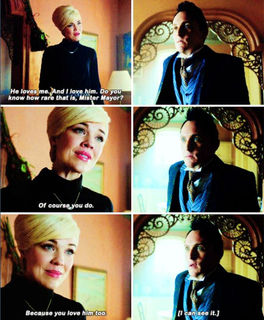 """""""You love him too. I can see it"""" - Isabella and Oswald #Gotham"""