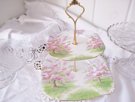 Hey, I found this really awesome Etsy listing at https://www.etsy.com/ca/listing/504768454/royal-albert-blossom-time-2-tier-tea