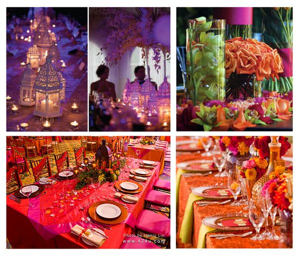 I like the colours and decor as inspiration for my dining room!  Egyptian-Pakistani Wedding by Krista Hohlbein, via Behance
