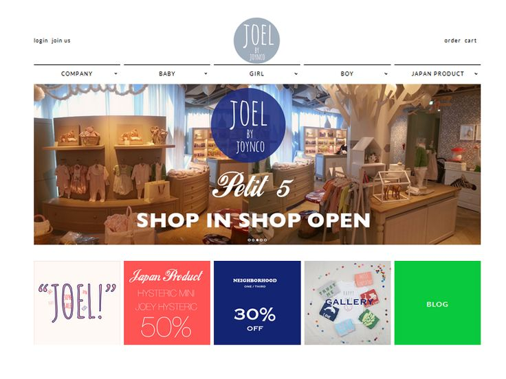 쇼핑몰 이름조엘쇼핑몰 주소http://www.joellife.com주력 상품유아동복 쇼핑몰, 드레스, 상의, 하의, 니트, 아우터주타겟연령20대 이하운영 방식조건부무료배송고객센터02 - 3213 - 2352블로그 주소http://joellife.blog.me/매장 주소서울특별시